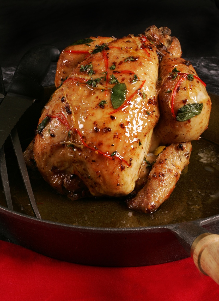 Derry clarke Roast Chicken with chilli Book shoot L'ecrivain Photographer Ronan Temple Lang